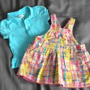 Ralph Lauren Shirt and Overalls Dress (6mos)